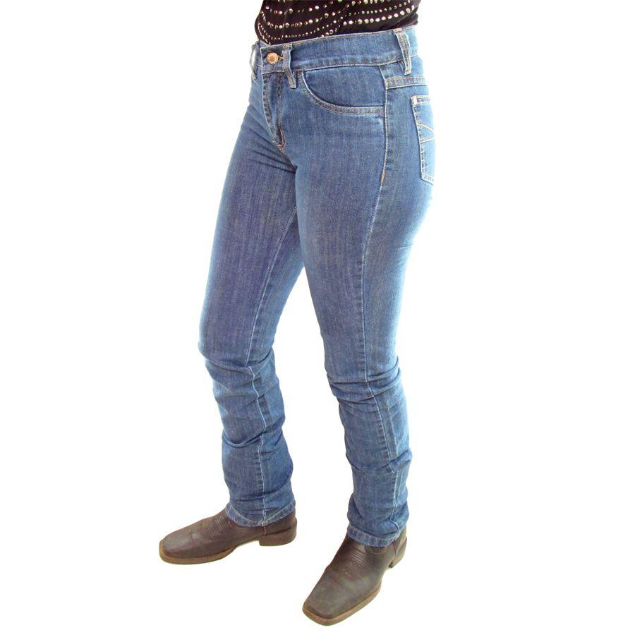 Calça Lycra Stone Feminina Dock´s Country C0003 - Cowboy BR 7785343c837