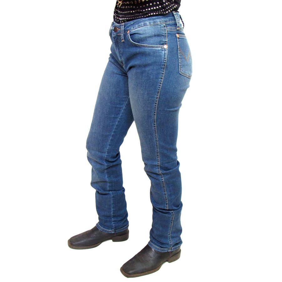 Calça Wrangler West Vintage Blue Feminina C0007