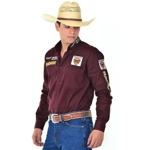 Camisa Masculina Radade Bordada Brands Bordô