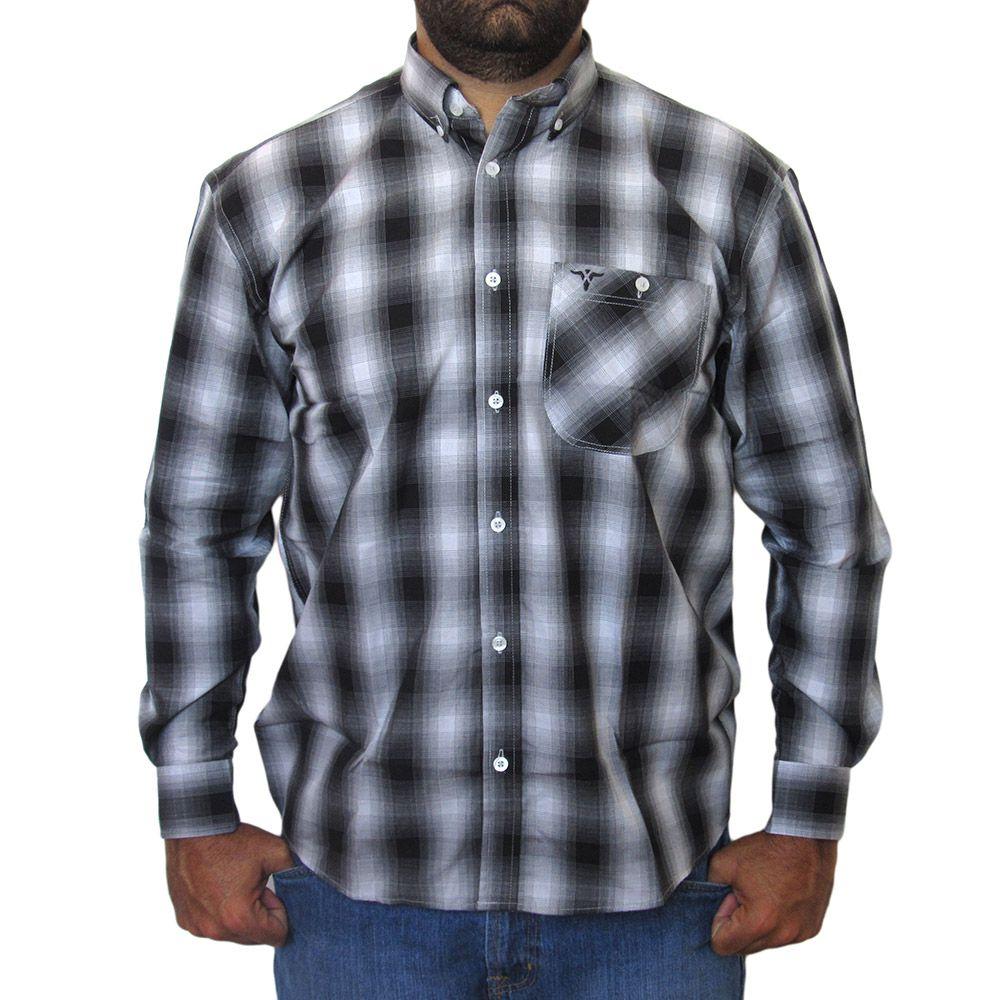 1f1acfc63a Camisa Wrangler Manga Longa Xadrez Degrade 8030 - Cowboy BR