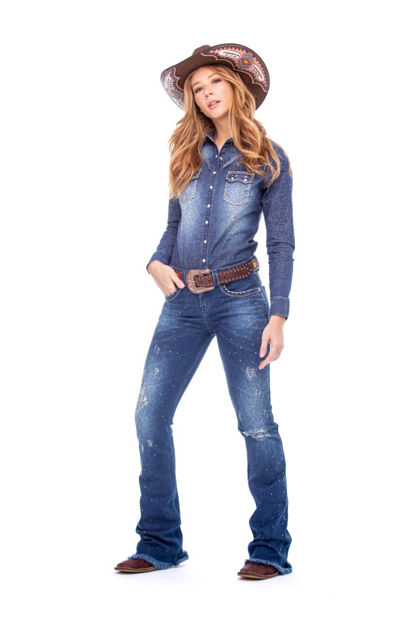 Camisa Zenz Western Jeans Excalibur