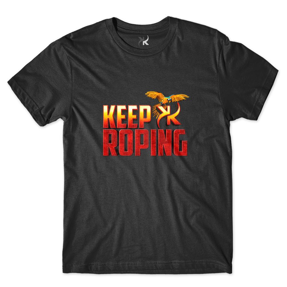 Camiseta Masculina Keep Roping Arara sem Fundo