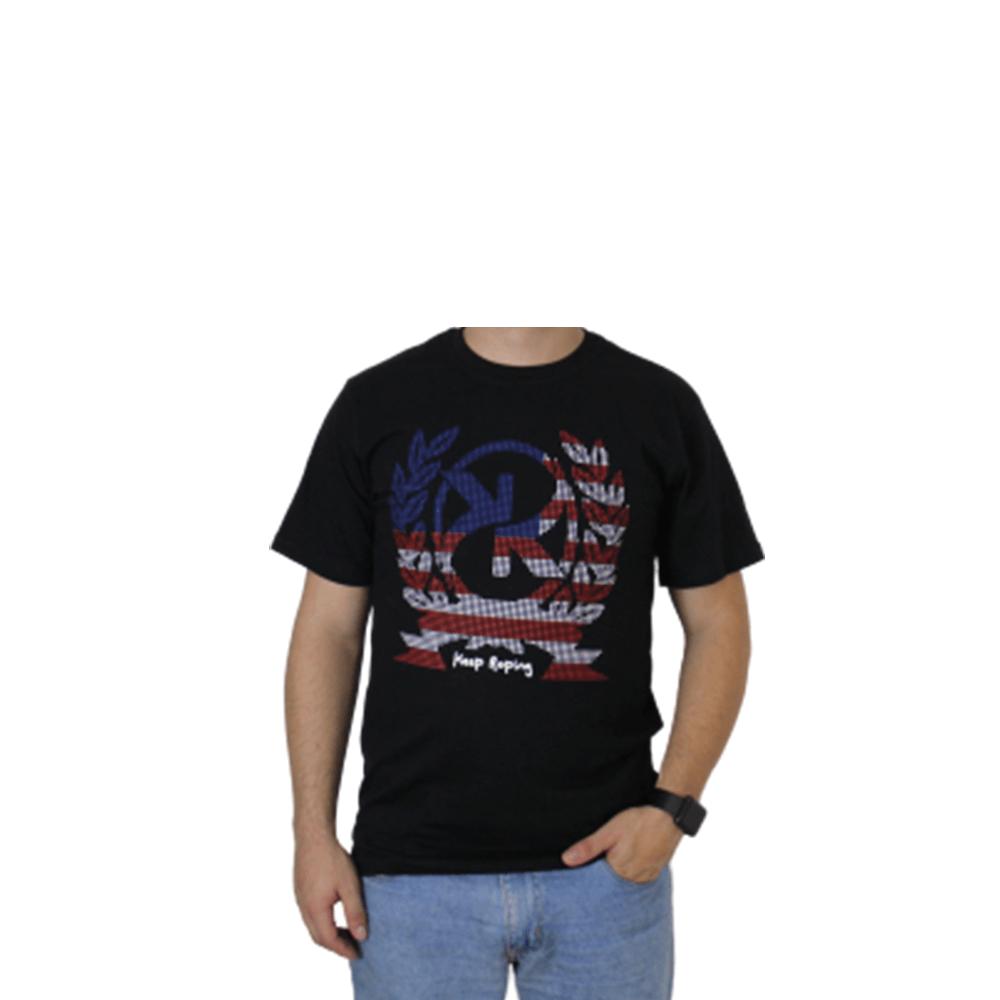 Camiseta Masculina Keep Roping Bandeira Americana