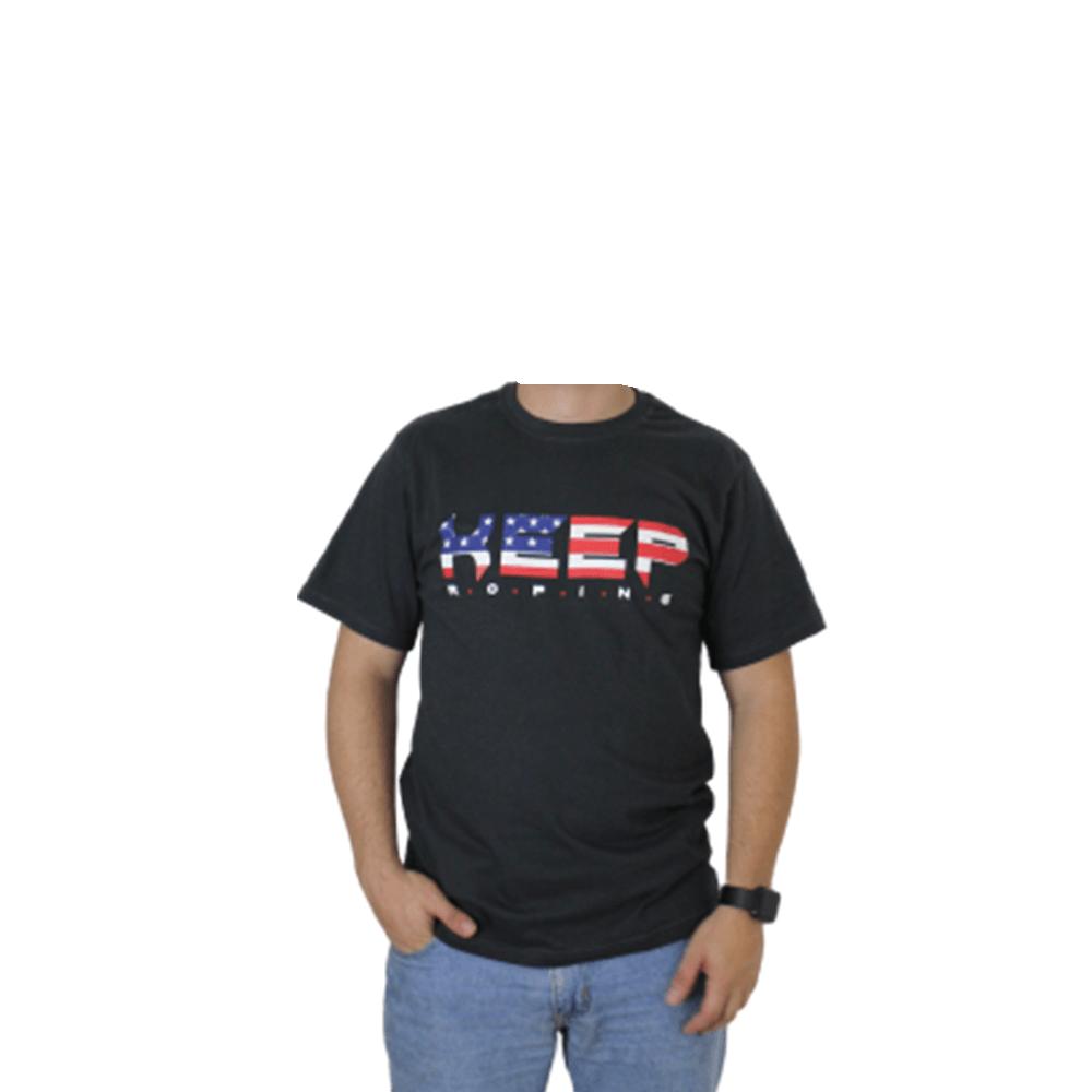Camiseta Masculina Keep Roping Bandeira Usa