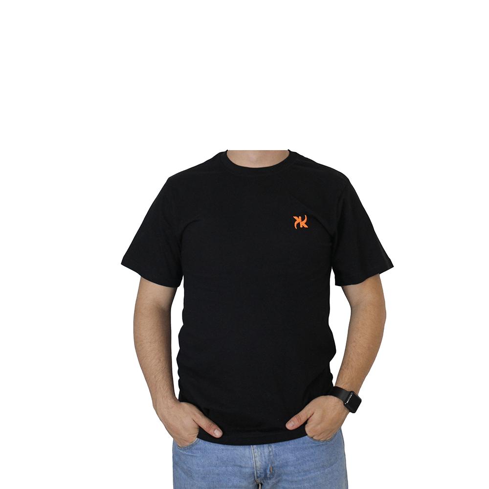 Camiseta Masculina Keep Roping Basic logo laranja