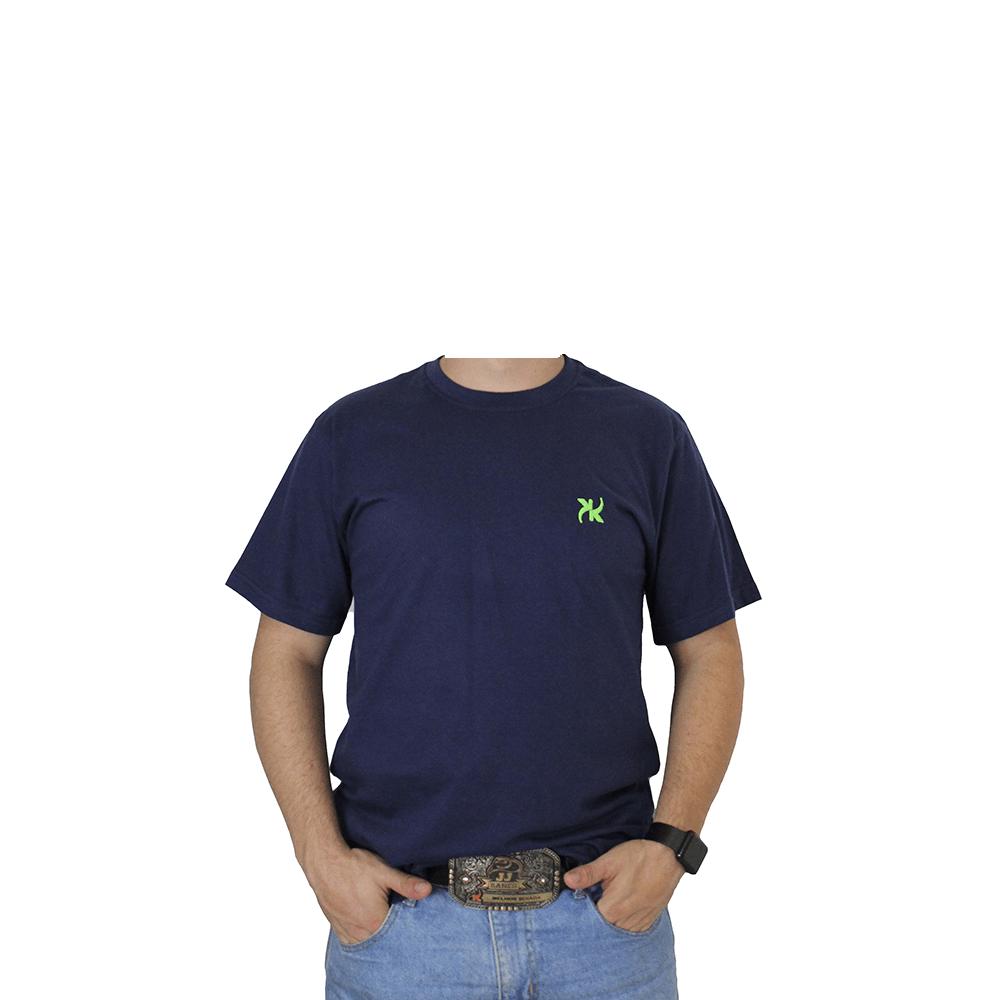 Camiseta Masculina Keep Roping Basic logo verde