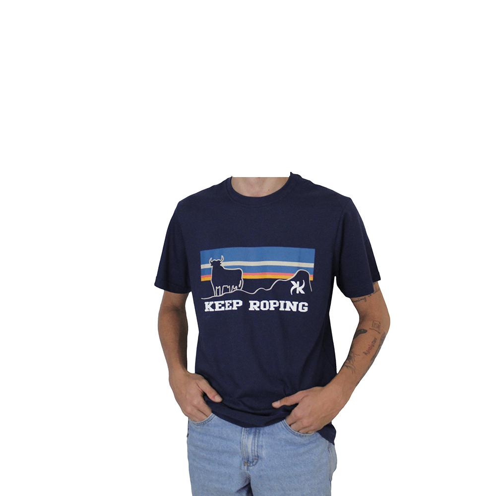 Camiseta Masculina Keep Roping Buffalo Montanha