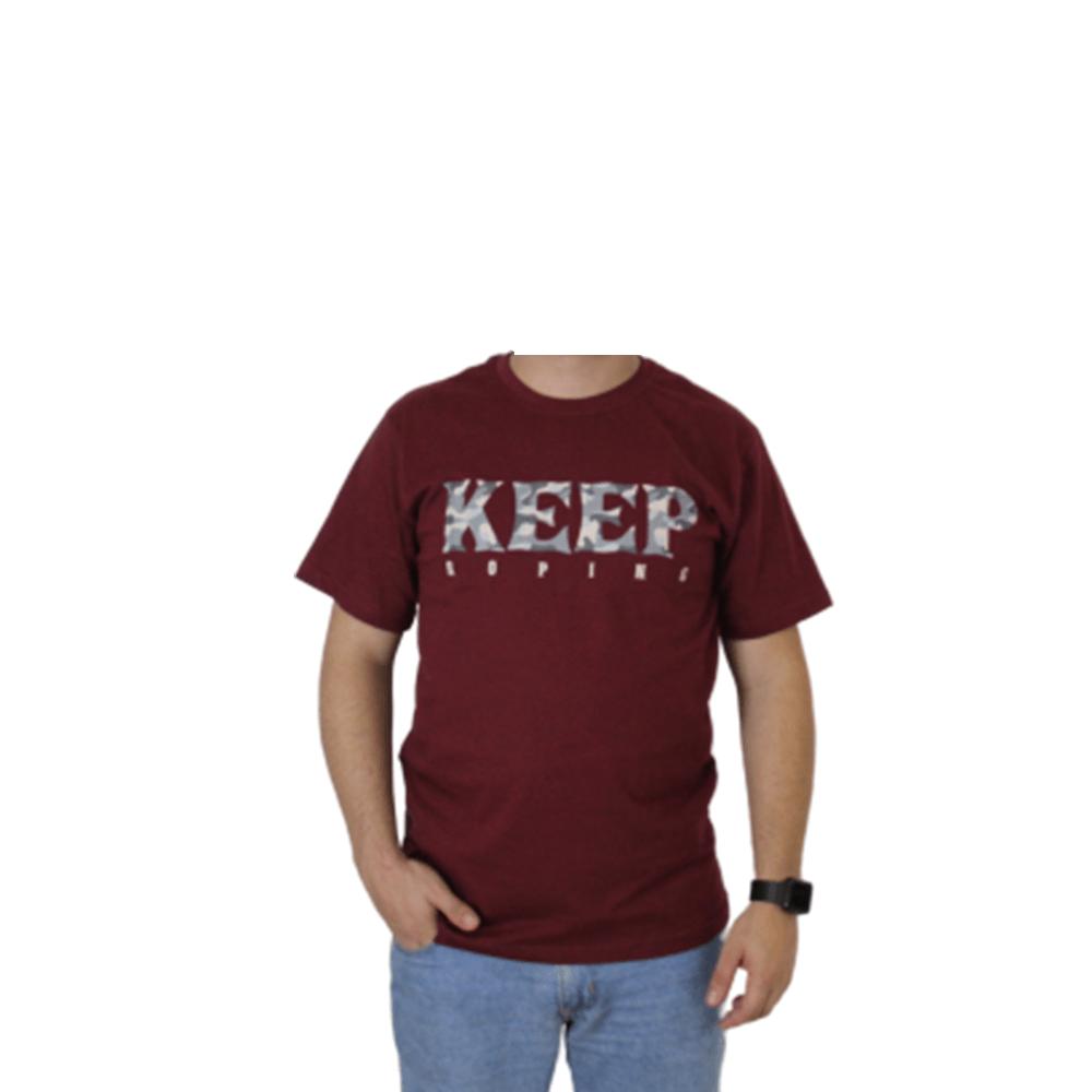 Camiseta Masculina Keep Roping Camuflado Militar Cinza
