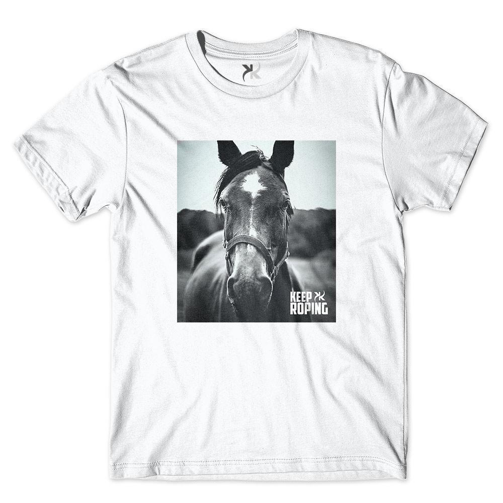 Camiseta Masculina Keep Roping Cavalo