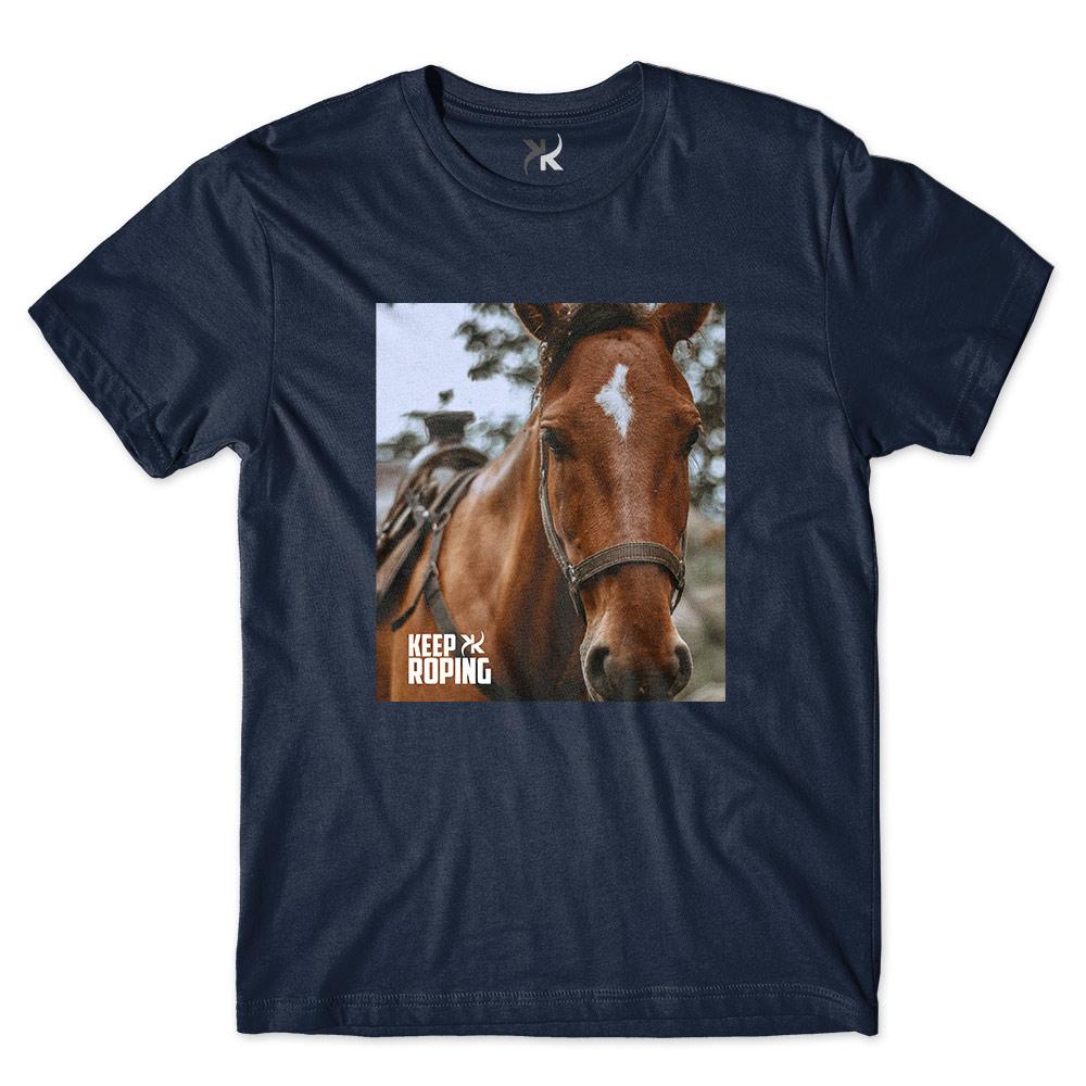 Camiseta Masculina Keep Roping Cavalo Perfil