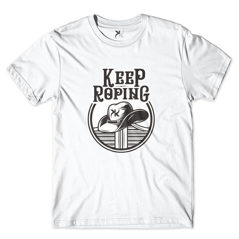 Camiseta Masculina Keep Roping Chapéu