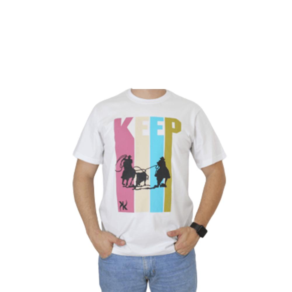 Camiseta Masculina Keep Roping Laçando