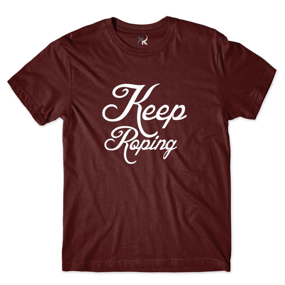 Camiseta Masculina Keep Roping Logo Escrita Logo 2