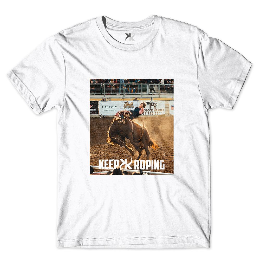 Camiseta Masculina Keep Roping Montaria Cavalo