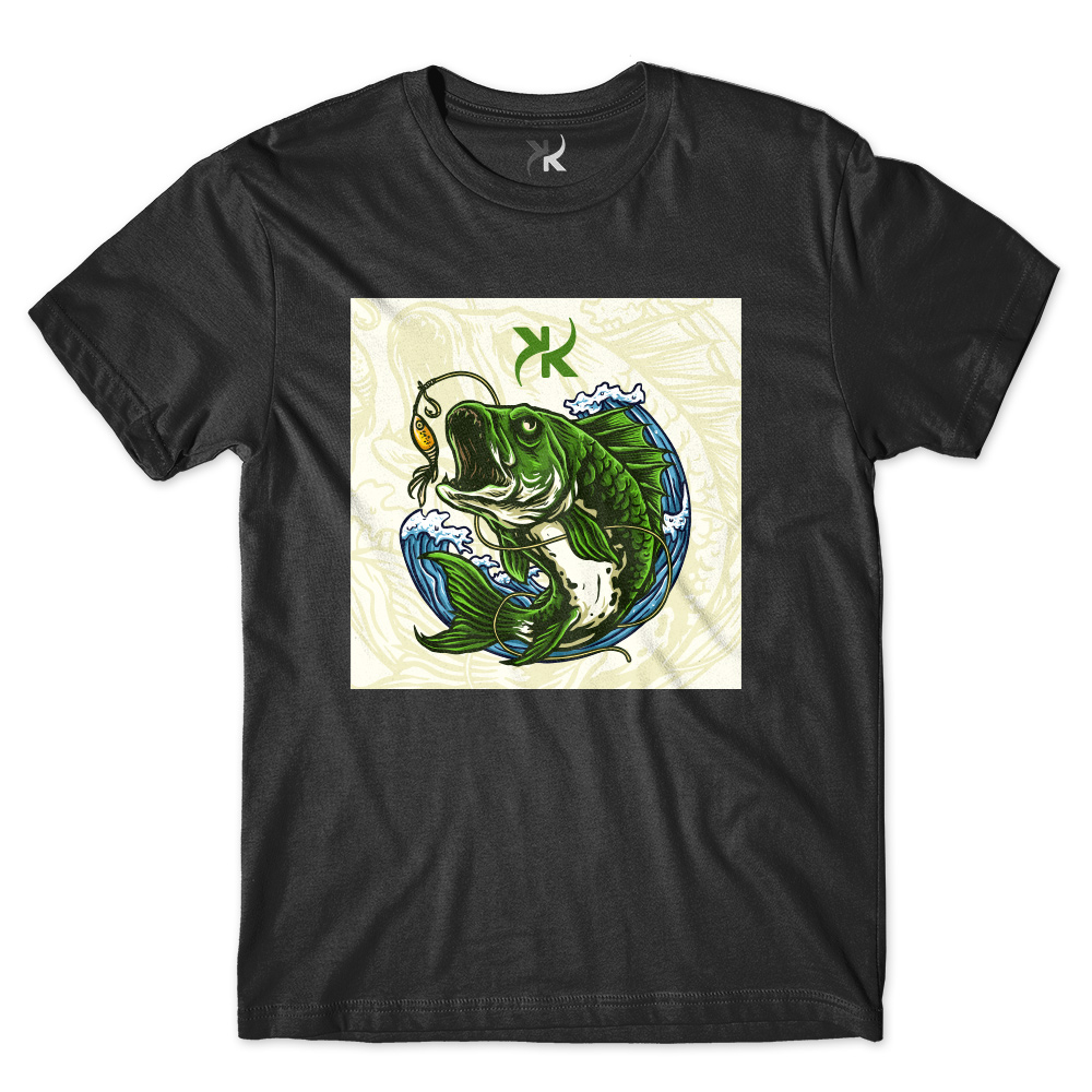 Camiseta Masculina Keep Roping Peixe Verde