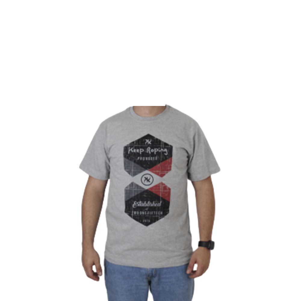 Camiseta Masculina Keep Roping Pro Rodeo Established