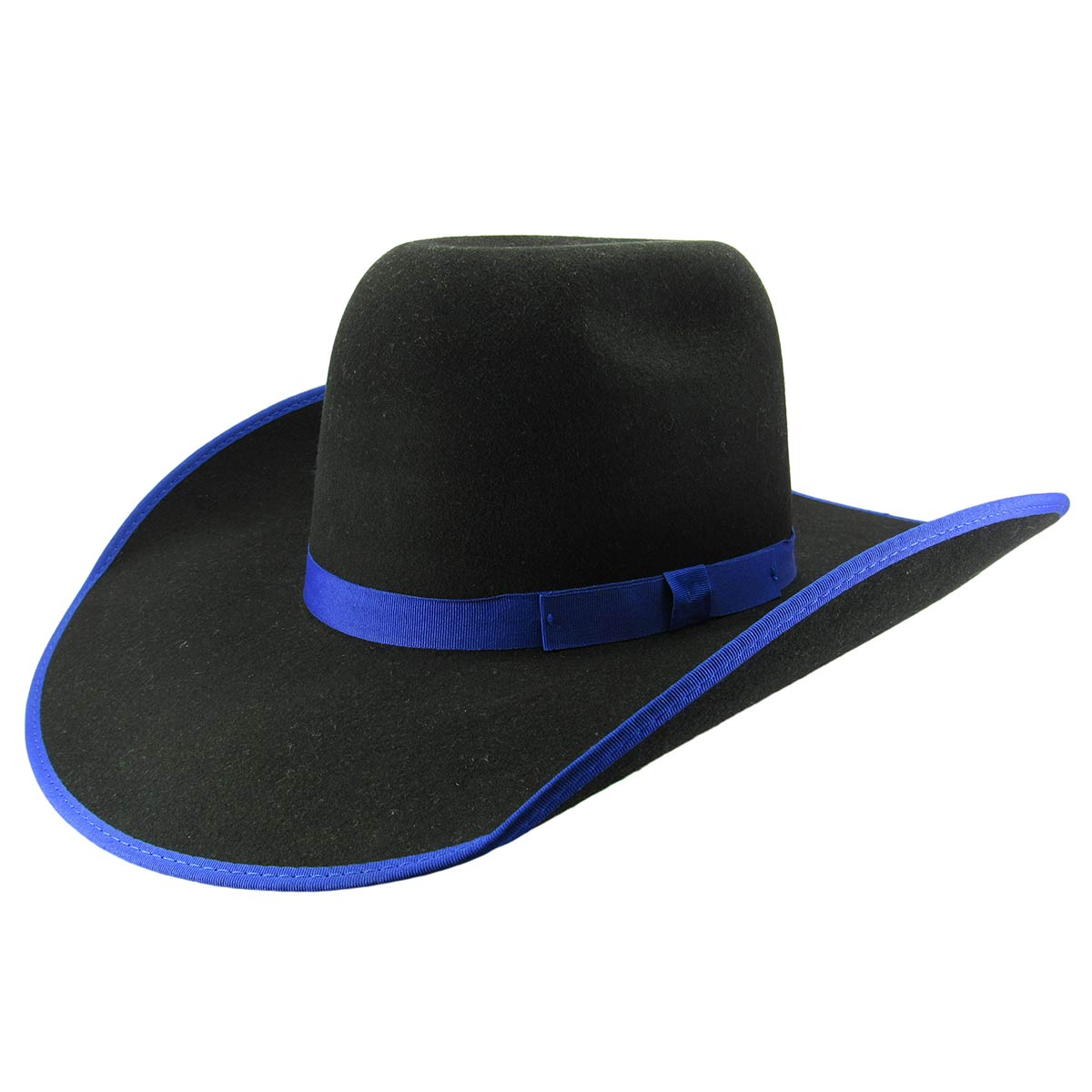 f5d78cef93dee Chapéu Country Eldorado Ultimate Feltro Preto Borda Azul - 9029 ...