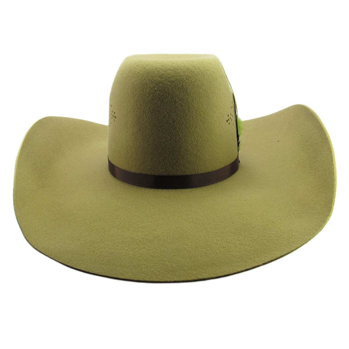 Chapéu Country Pralana Feltro Rendado Camel Aba 13 - Cowboy BR 1a598fb682f