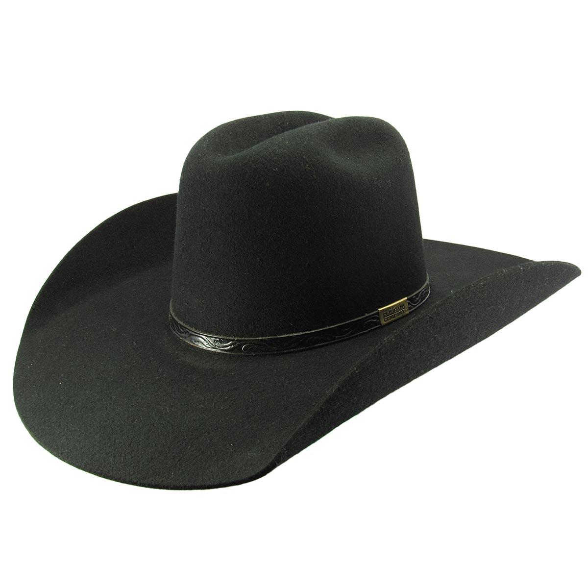 Chapéu Eldorado Lã X-treme Rodeo Feltro Preto - Cowboy BR 393b668f5fb