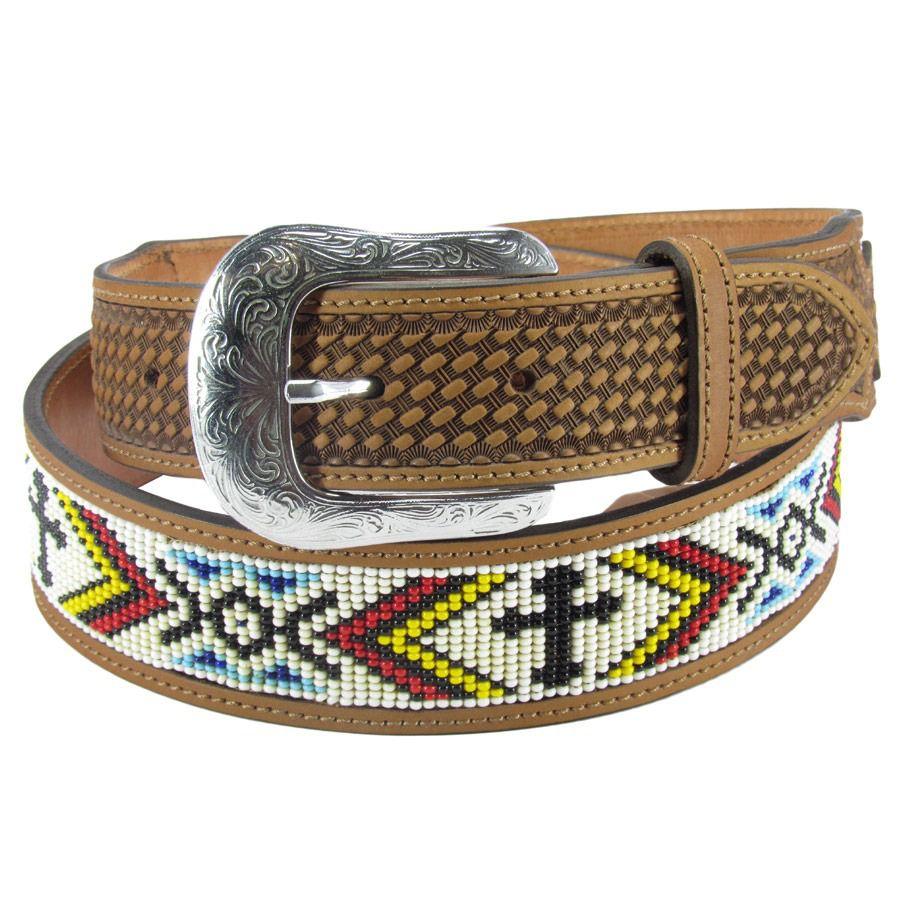 09cc6ff2eea Cinto Country Masculino De Miçangas Couro Bordado Balaio - Cowboy BR