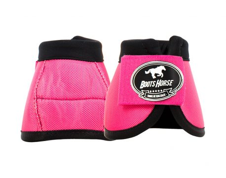 Cloche Color Pink Boots Horse