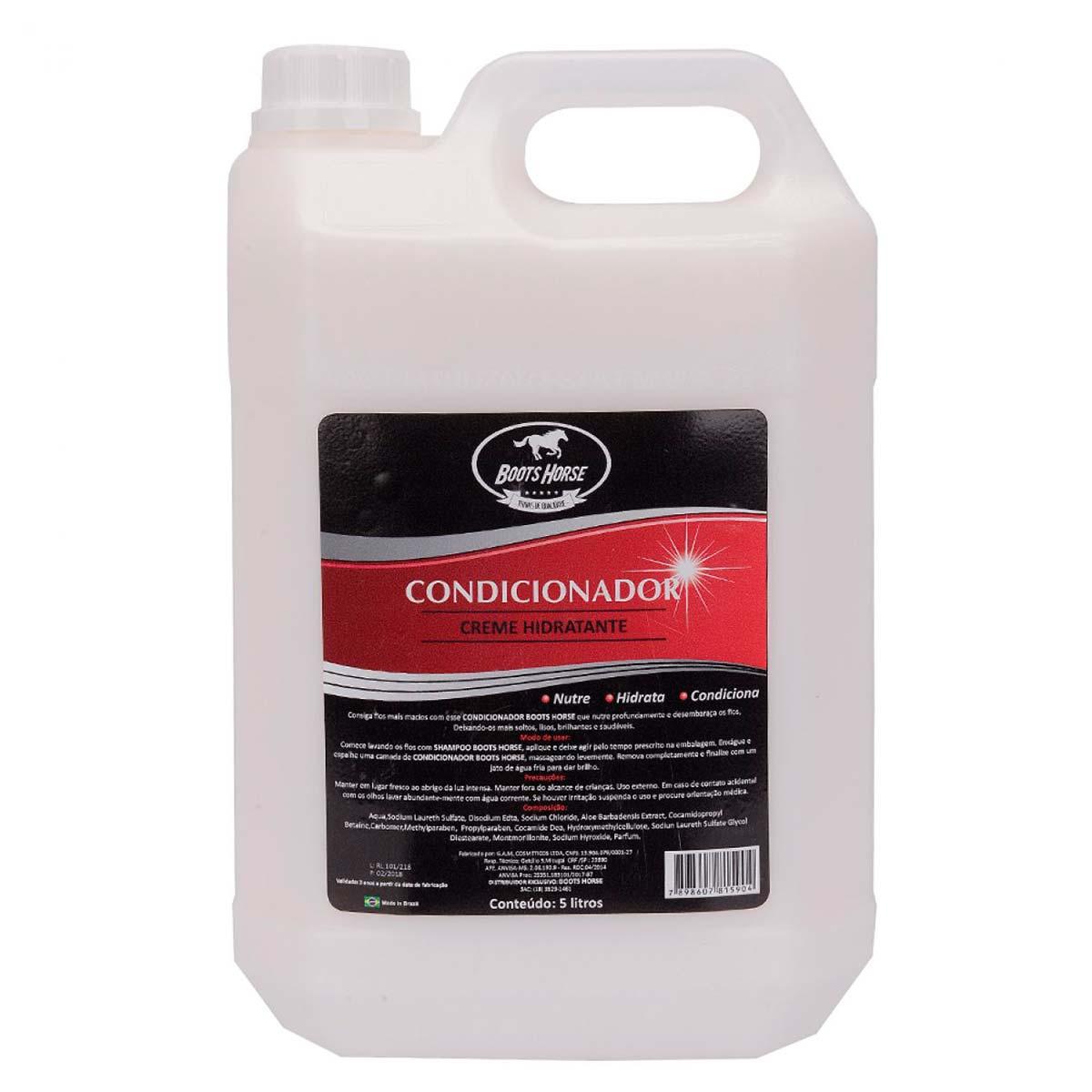 Condicionador Boots Horse Creme Hidratante 5 L Para Cavalo