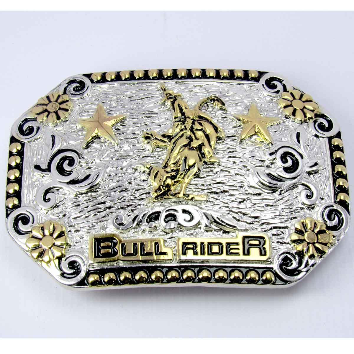 Fivela Country Bull Rider Montaria Em Touro Para Cinto