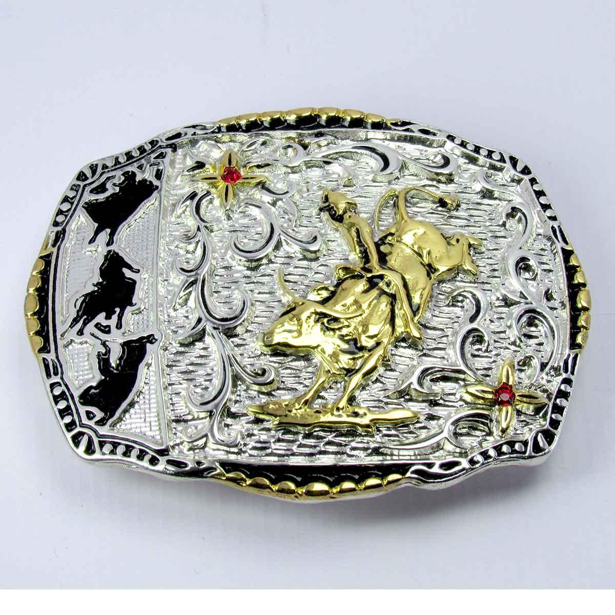 Fivela Country Cowboy Montaria Em Touro Para Cinto