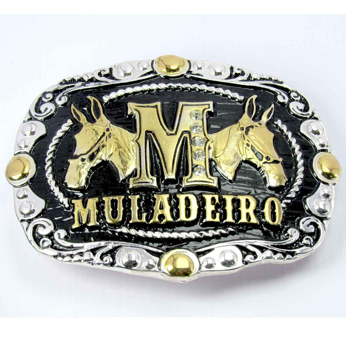 Fivela Country Cowboy Muladeiro Para Cinto Burros E Mula