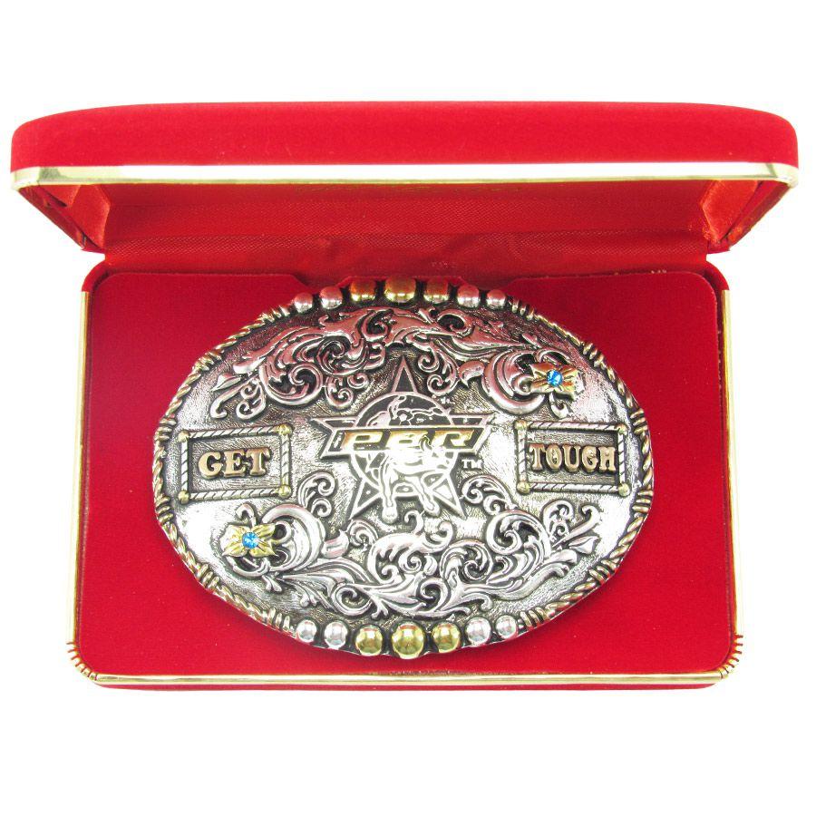 Fivela Pbr Rodeio Gold Series Get Tough 7007