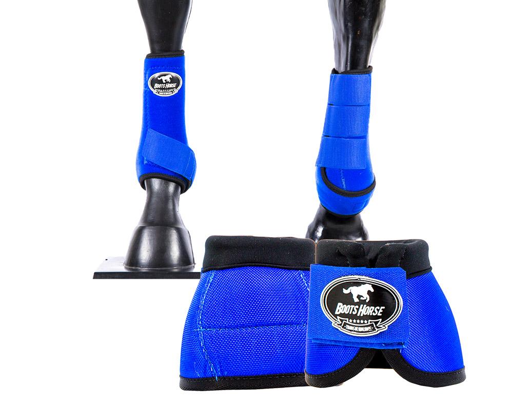 Kit Cloche e Caneleira Azul Royal Boots Horse