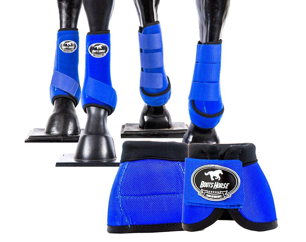Kit Cloche E Caneleira Para Cavalo Boots Horse Varias Cores