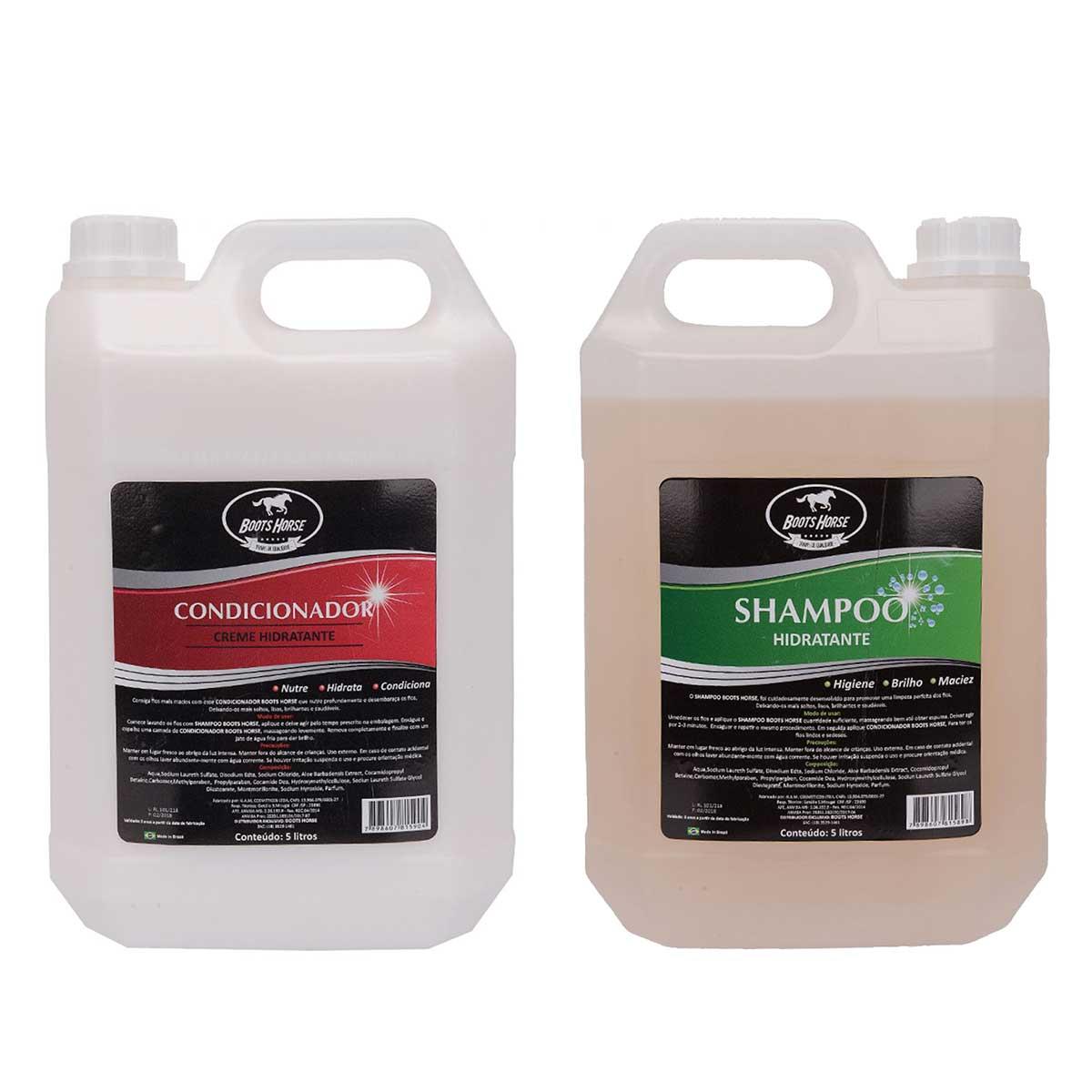 Kit Shampoo E Condicionador Boots Horse 5 Litros
