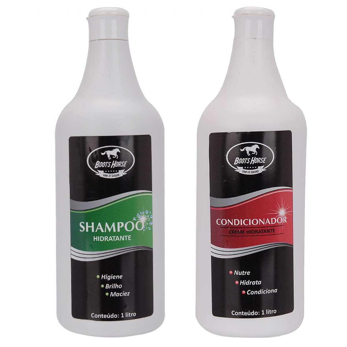 Kit Shampoo E Condicionador Boots Horse Para Crina De Cavalo