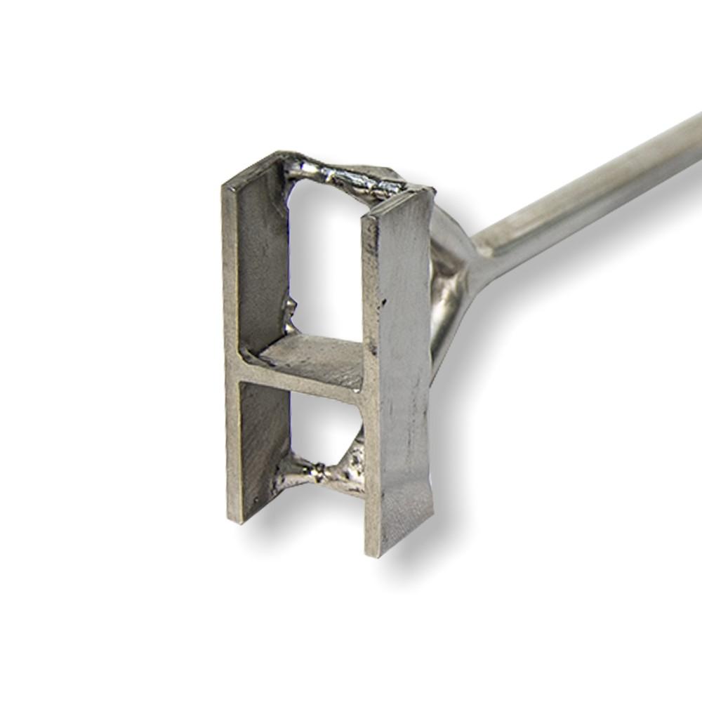 Marcador de Gado Keep Roping em aço inox Letra H