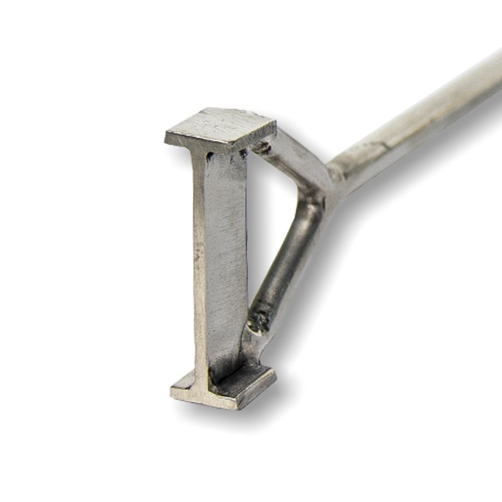 Marcador de Gado Keep Roping em aço inox Letra I
