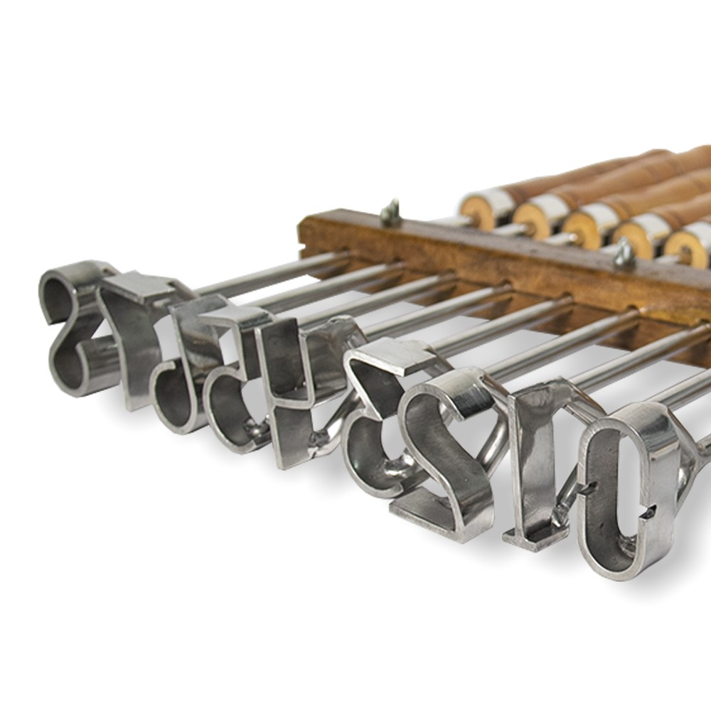 Marcador de Gado Keep Roping Jogo De Número 0 ao 8 em Inox - 9 cm