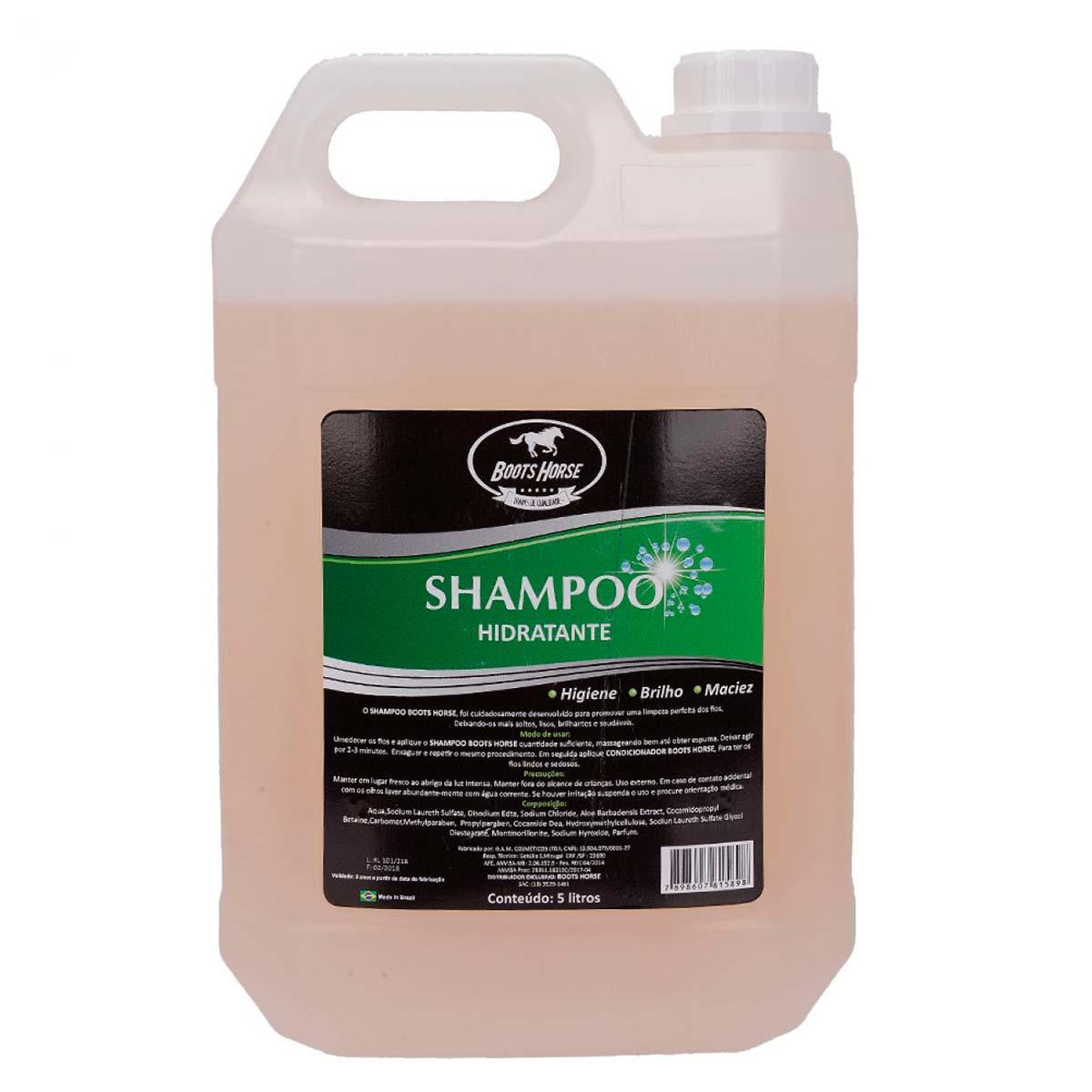 Shampoo Hidratante Boots Horse Para Crina De Cavalo 5 L