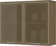 Armário Aéreo Modulado 2 Portas com Vidro 80cm Integra - Henn