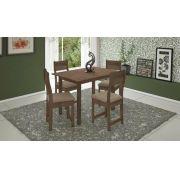 Conjunto de Mesa e 4 Cadeiras Dallas - Indekes