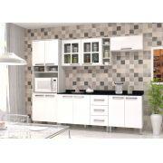 Cozinha Modulada Bia 1 - 5 Peças com Vidro e Nicho - Luciane