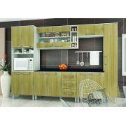 Cozinha Modulada Bia 3 - 6 Peças com Vidro e Nicho -  Luciane
