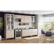 Cozinha Modulada Integra 1 - 7 Peças Portas de Vidro e Porta Talheres - Henn