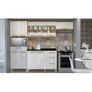 Cozinha Modulada Lara 2 - 4 Peças Porta de Vidro - Luciane