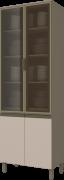 Cristaleira Modulada 4 Portas com Vidro 71cm Connect Henn