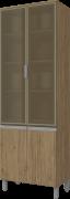 Cristaleira Modulada 4 Portas com Vidro 71cm Integra Henn
