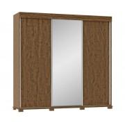 Guarda Roupa Casal 3 Portas de Correr C/ Espelho - Fenix