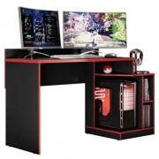 Mesa Gamer Play Preto Fosco Liso / Vermelho - Albatroz