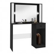 Penteadeira Camarim LED com Espelho 1 Porta 1 Gaveta Suspiro Incorplac
