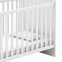 Berço Infantil Inocência com Cômoda 2 Portas 1 Gaveta Branco - Batrol